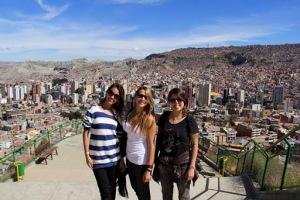 Mel, Lu e Sah em La Paz